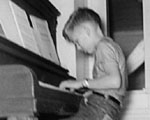 Jerry Gowen practicing in 1959.